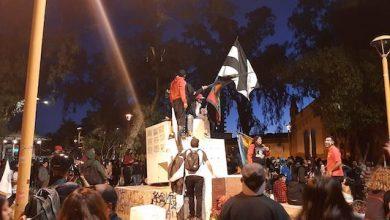 Photo of Con marcha y manifestaciones en Calama se recordó 1 año del estallido social de Chile