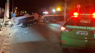 Photo of Carabineros detiene a conductor que provocó accidente ebrio y con familia