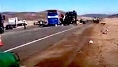 Photo of 7 muertos en choque frontal de Pullman Bus con camión