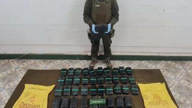 Photo of En control fronterizo Carabineros de San Pedro de Atacama intercepta más de 52 kilos de pasta base de cocaína